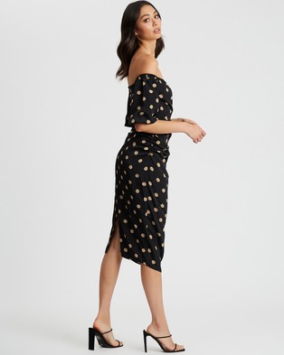 BWLDR Rosana Dress - Printed Dresses (Black Base Polka)