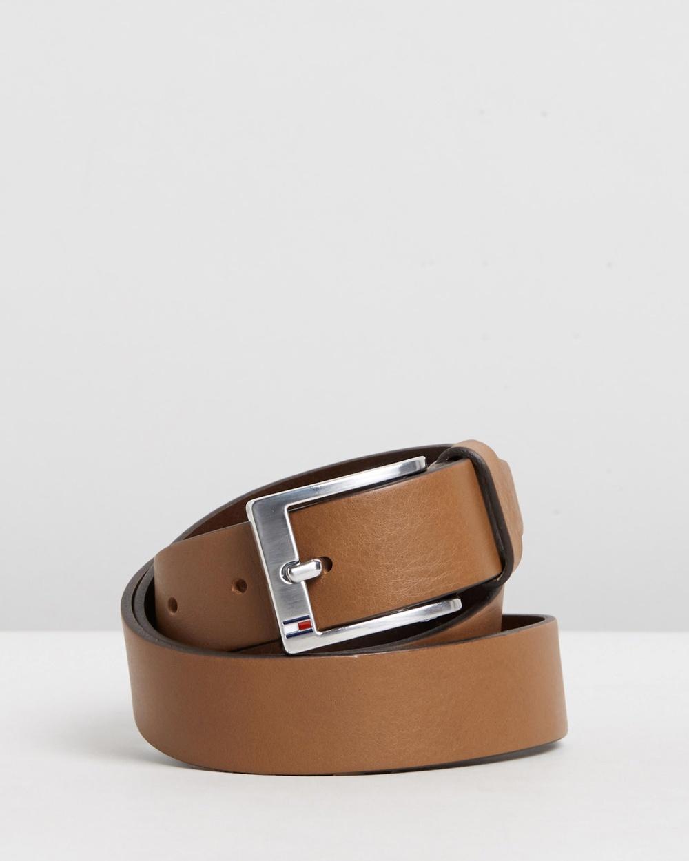 Tommy Hilfiger New Aly Belt Belts Dark Tan