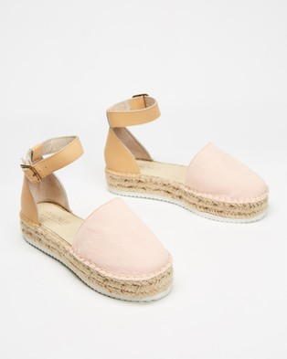 Walnut Melbourne Moeta Canvas Espadrilles - Flats (Blush)