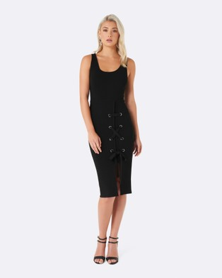 Forever New – Bethany Eyelet Side Dress – Dresses (Black)