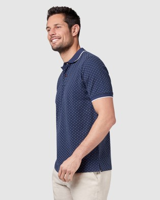 Blazer Roman Print Polo - Shirts & Polos (Navy)