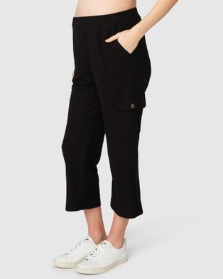 Pea in a Pod Maternity Bethany Cargo Pants - Cargo Pants (Black)