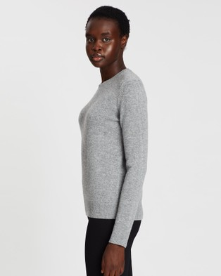 Theory Crew Neck Cashmere Pullover - Jumpers & Cardigans (Grey)