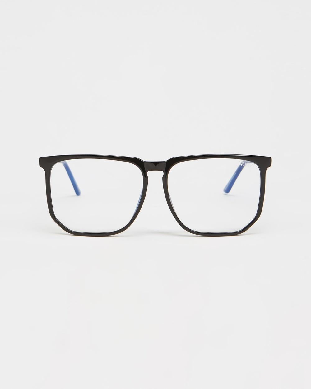 Quay Australia Stranger Optical Black & Clear Blue Light Lens