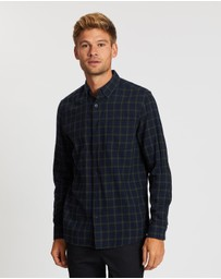 Topman - Long Sleeve Blackwatch Check Shirt