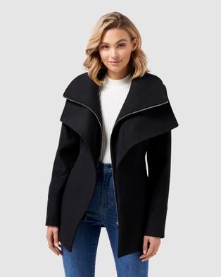 Forever New April Cropped Coat - Coats & Jackets (Black)