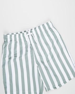 Free by Cotton On Bailey Boardshorts   Teens - Swimwear (Candy Stripe & Swag Green)
