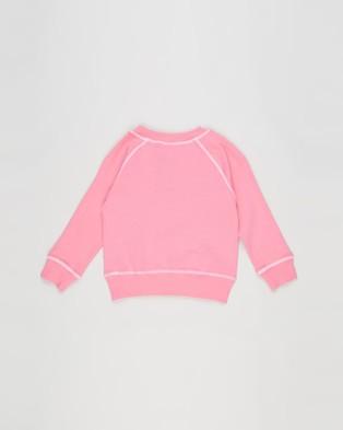 Bonds Kids Cool Sweats Pullover Pink Kiss