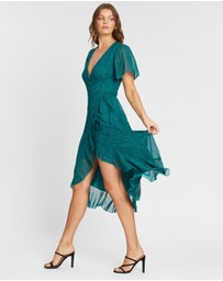 Atmos&Here - Trinity Wrap Front Midi Dress