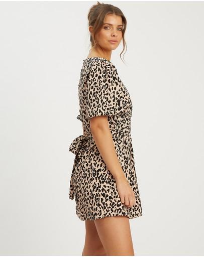 Calli Hollie Mini Dress Leopard