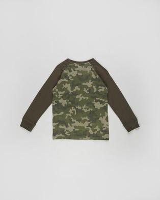 Cotton On Kids - Tom Long Sleeve Raglan Tee   Kids Teens - T-Shirts & Singlets (Camo) Tom Long Sleeve Raglan Tee - Kids-Teens