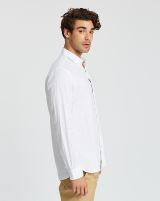Tommy Hilfiger Solid Linen Shirt - Casual shirts (Bright White)