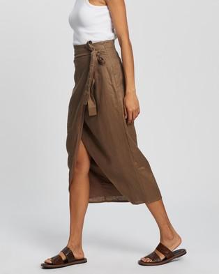 AERE Wrap Skirt - Skirts (Mocha)