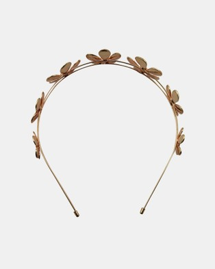 Olga Berg April Daisy Metal Headband - Hair Accessories (Rose Gold)