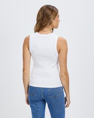 Neuw Jonesy Singlet - T-Shirts & Singlets (White)