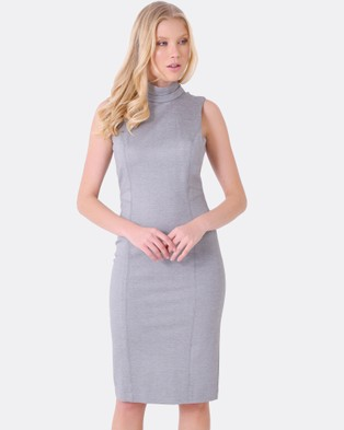 Forcast – Piper Panel Dress Grey