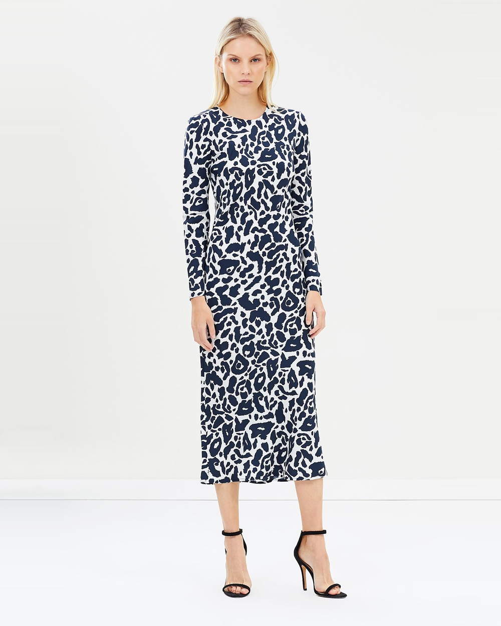 Gary Bigeni Foran Dress Printed Dresses Navy Leopard Print Foran Dress