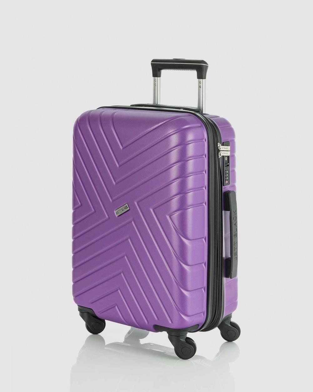 JETT BLACK Maze Carry On Suitcase Bags Purple