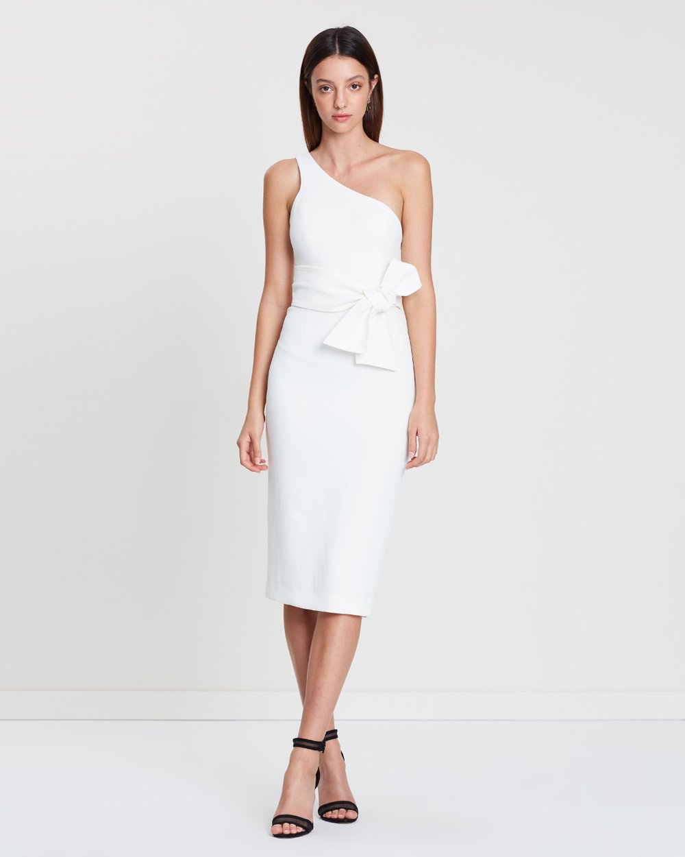 4bb33c8d16d One Shoulder Midi Dress with Belt by Shona Joy Online | THE ICONIC |  Australia