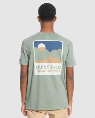 Quiksilver - Mens Crescent City Organic T Shirt - T-Shirts & Singlets (BLUE HEAVEN) Mens Crescent City Organic T-Shirt