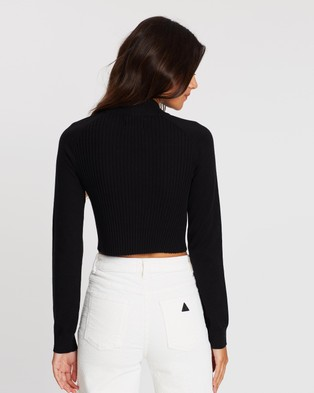Abrand A Kim Cropped Jumper - Jumpers & Cardigans (Black)