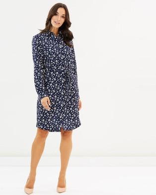 Farage – Lucinda Shirt Dress Navy Floral