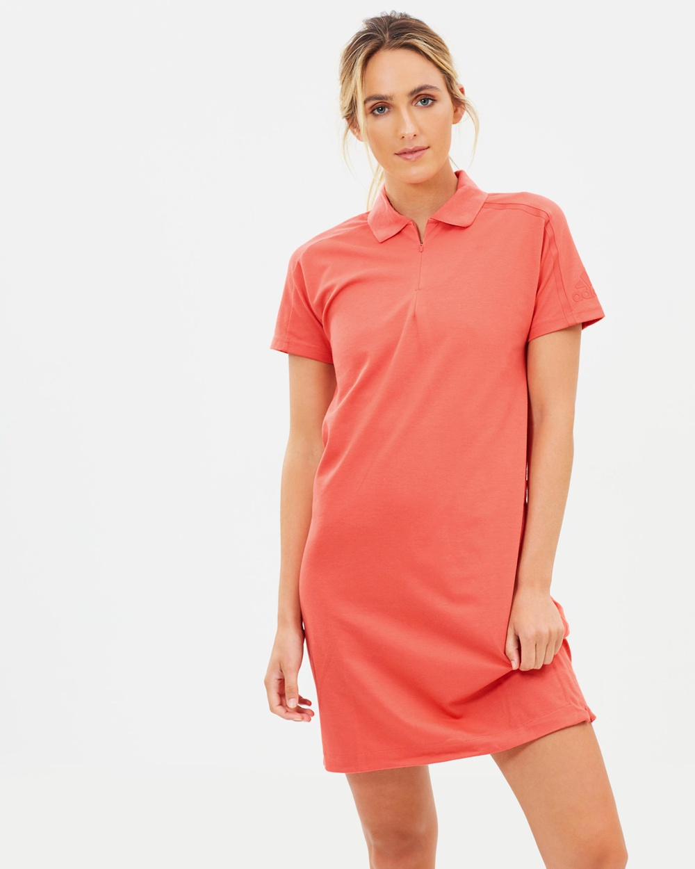 adidas Performance Z.N.E. Long Tee Dresses Trace Scarlet Z.N.E. Long Tee