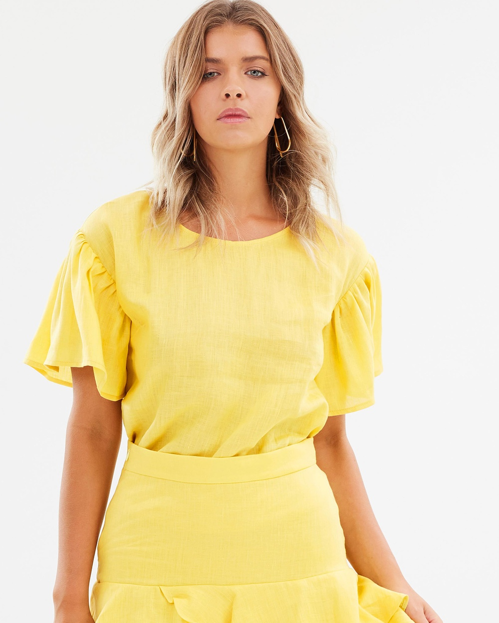 Backstage Venice Top Tops Yellow Venice Top
