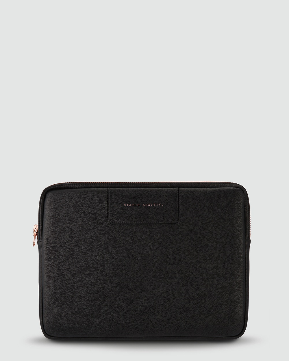 Status Anxiety Before I Leave Laptop Case Tech Accessories Black/Rose Gold
