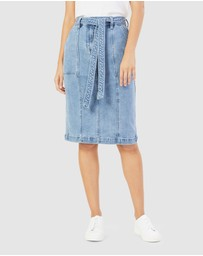 French Connection - Denim Midi Skirt