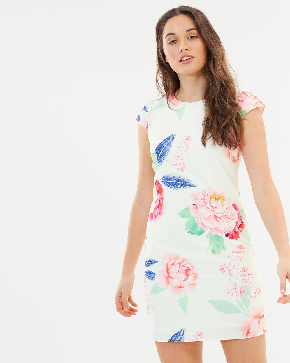 Dorothy Perkins Bloom Floral Ditsy Dress Printed Dresses White Bloom Floral Ditsy Dress
