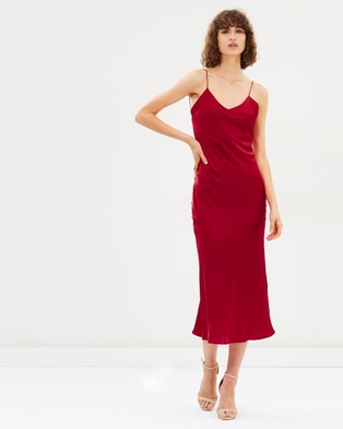 Hansen & Gretel – Demi Silk Dress Red