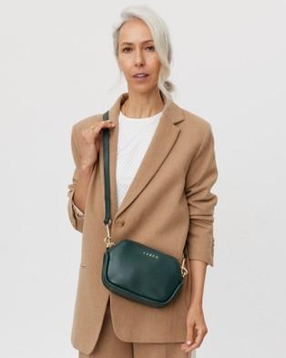 Saben Odile Cross body Leather Small Bag - Handbags (Green)