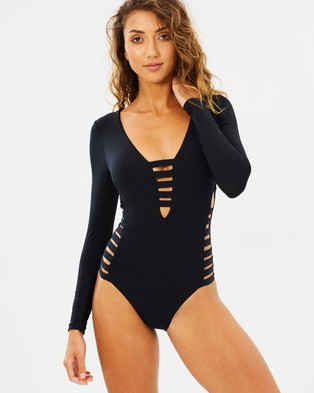 Seafolly – Active Multi Strap Surf Suit – One-Piece Swimsuit Black