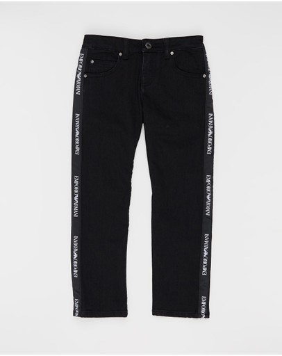 Emporio Armani - Denim Side Taping Jeans - Kids-Teens