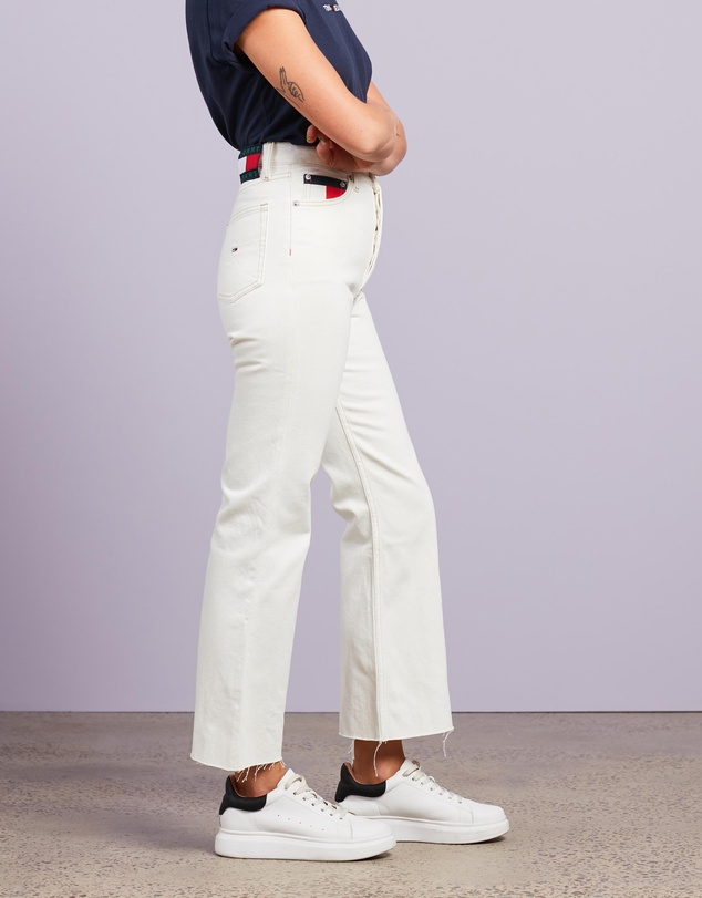 Women Harper High-Rise Straight Flare Ankle Jeans