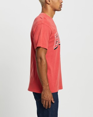 Mitchell & Ness Vintage Keyline Logo Tee   Chicago Bulls - Short Sleeve T-Shirts (Faded Red)