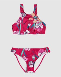 Roxy - Girls 8-14 Little Wanderer Crop Top Bikini Set