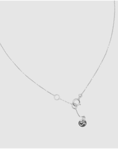 Ca Jewellery Letter S Pendant Necklace Silver