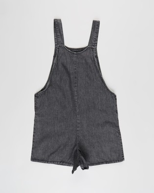 Free by Cotton On Ava Overall   Teens - Jumpsuits & Playsuits (Black Chambray)