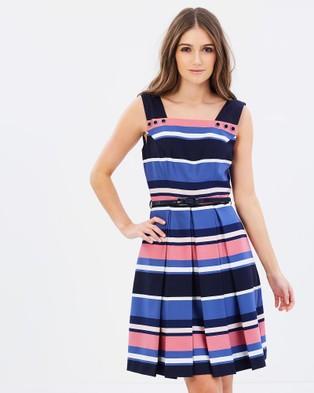 Review – Chrysalis Stripe Dress – Dresses (Navy)