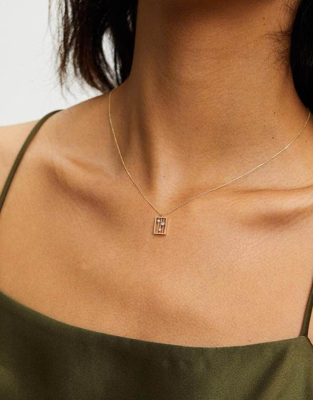 Women Opal Drift Necklace
