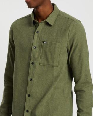 Volcom Caden Solid Long Sleeve Shirt - Shirts & Polos (Green)