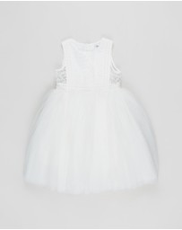 Bebe by Minihaha - Embroidered Organza Dress - Kids