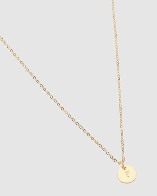 Dear Addison Kids - Letter F Necklace - Jewellery (Gold)