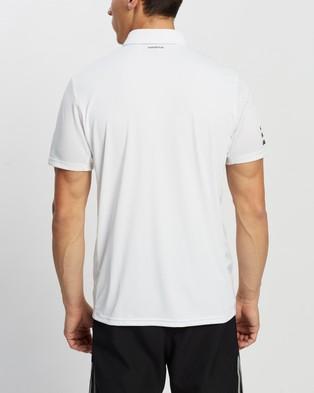 adidas Performance Club Tennis 3 Stripes Polo Shirt - Shirts & Polos (White & Black)