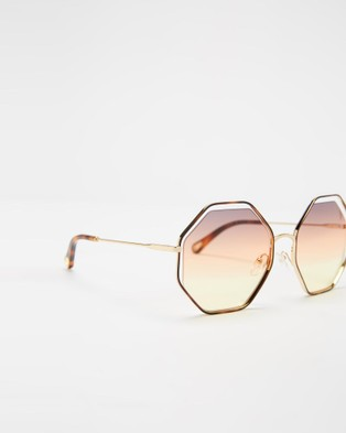 Chlo?? CE132S - Sunglasses (Havana & Grey Orange Yellow)