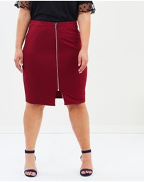 Atmos&Here Curvy - ICONIC EXCLUSIVE - Alexa Zip Front Skirt