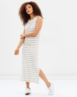 Tee Ink – Salty Midi Tank Dress – Dresses (Sand)