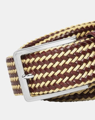 Buckle Daytona 35mm Plaited Belt - Belts (Ox Blood)
